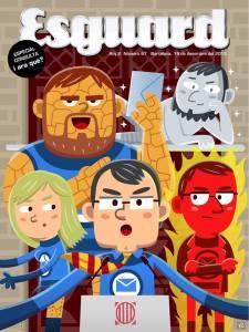 """Portada de la revista """"Esguard"""". Potser en un proper número publiquen una caricatura dels superdolents."""