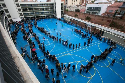 Cua a La Salle a Gràcia.